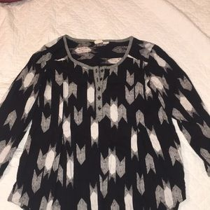 Black and white Roxy Blouse